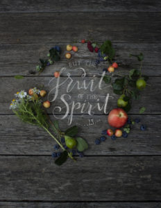 But the Fruit of the Spirit is…