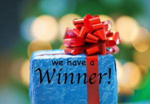 We have a Winner!  And a Free Book for you!